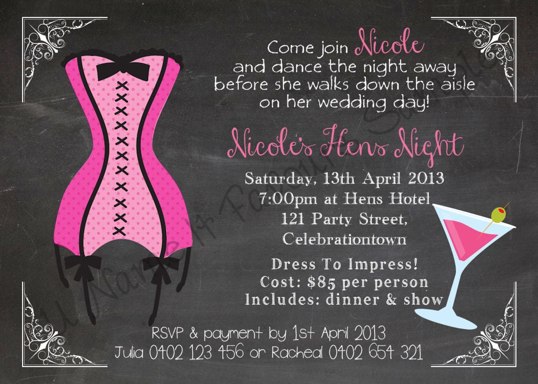 Hen Party Invitations Templates