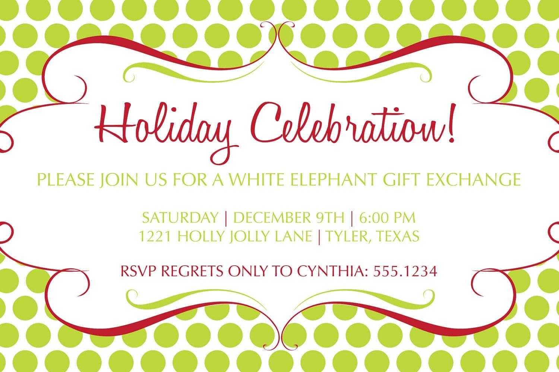 Holiday Party Invitations Templates Free