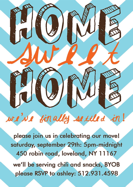 Home Sweet Home, Housewarming Party Invitation  Print