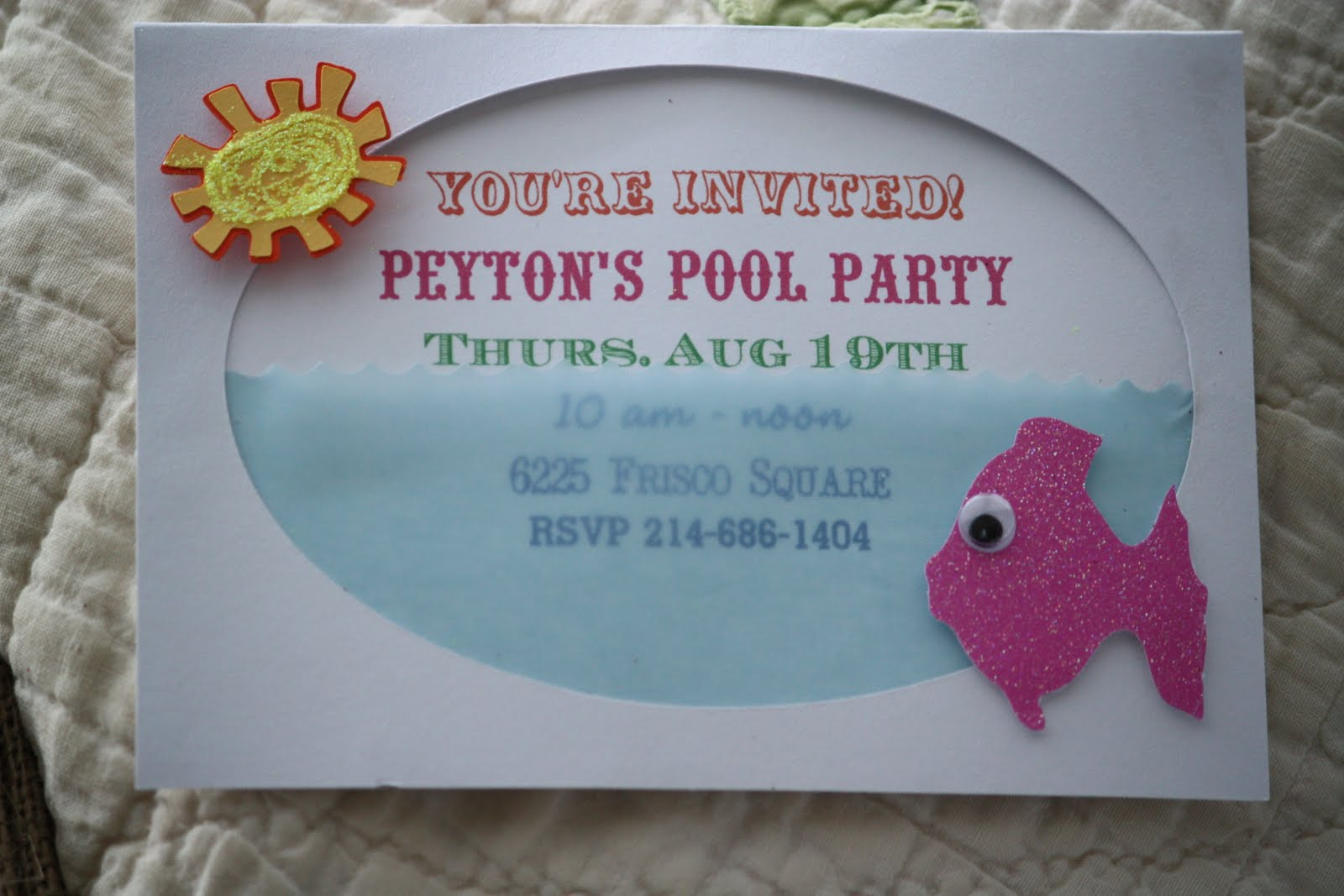 Homemade Party Invitations