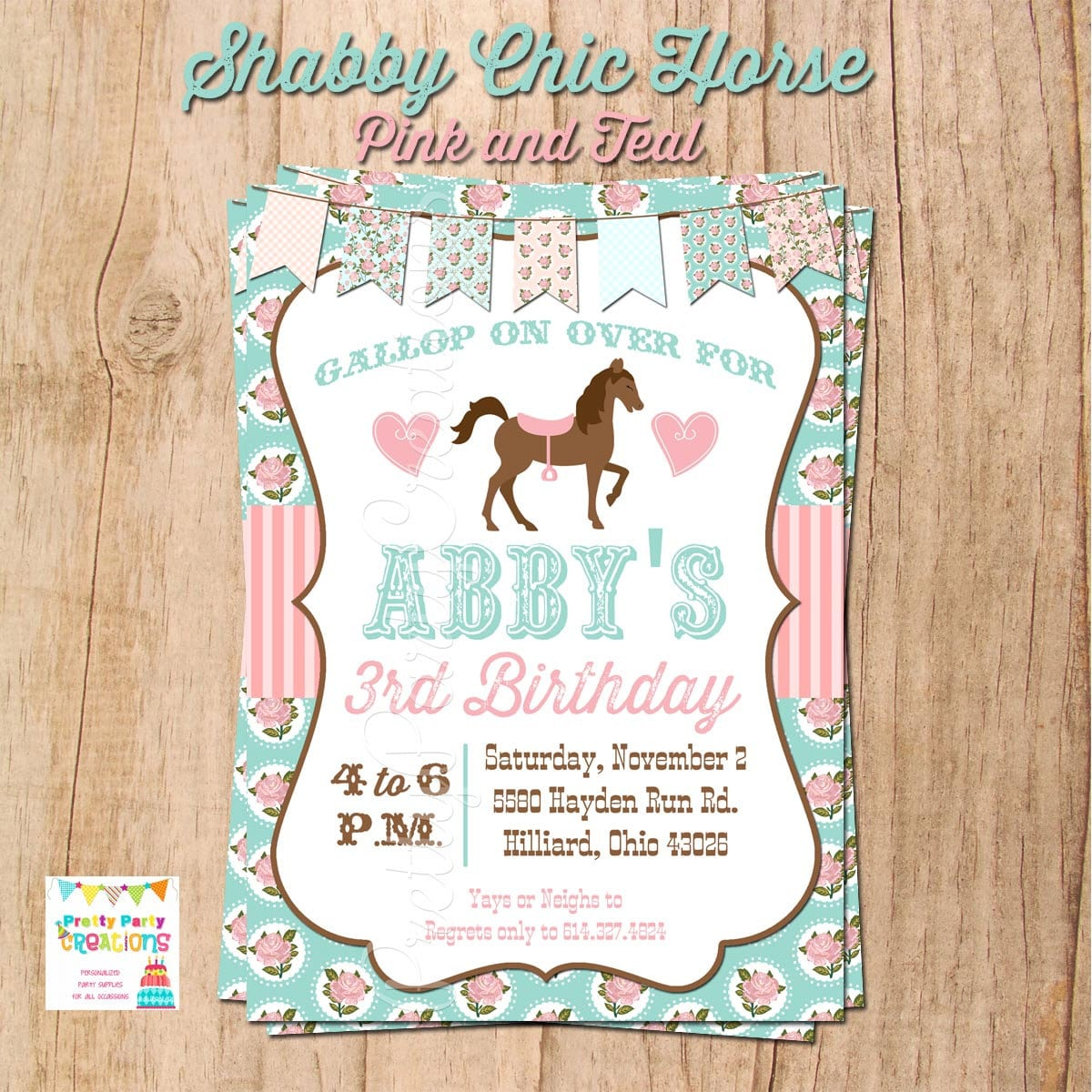 Horse Themed Birthday Party Invitations Mickey Mouse Invitations