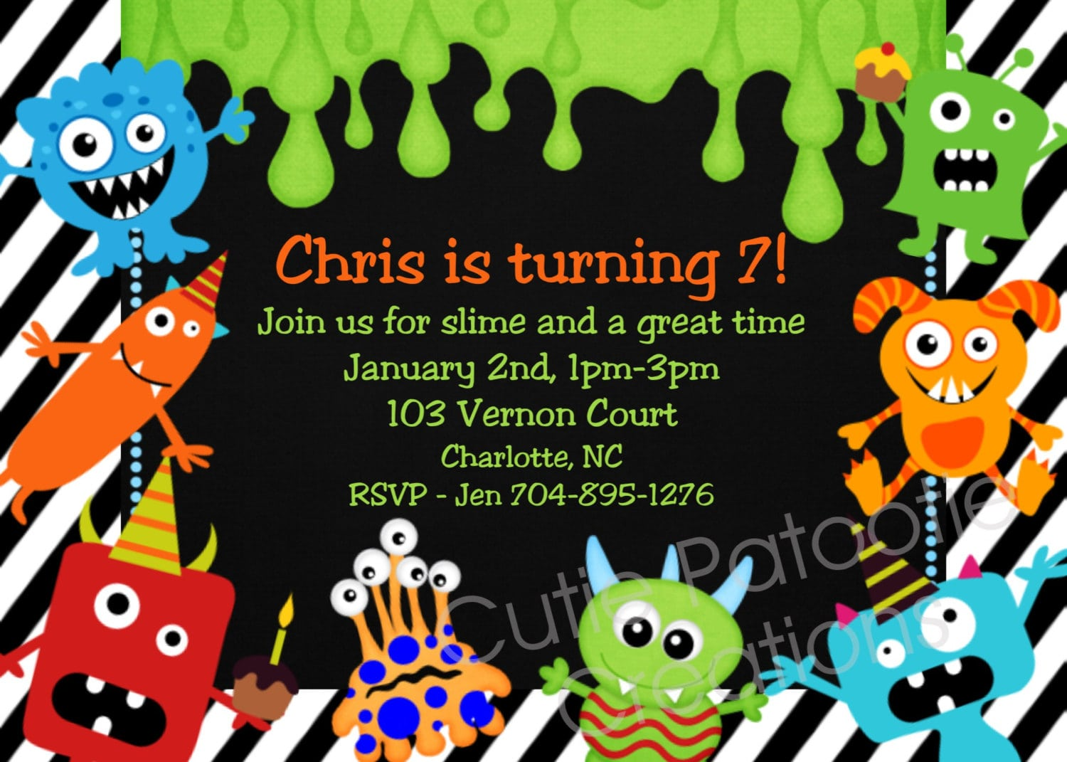 Impressive Monster Birthday Party Invitations That Maybe You Are