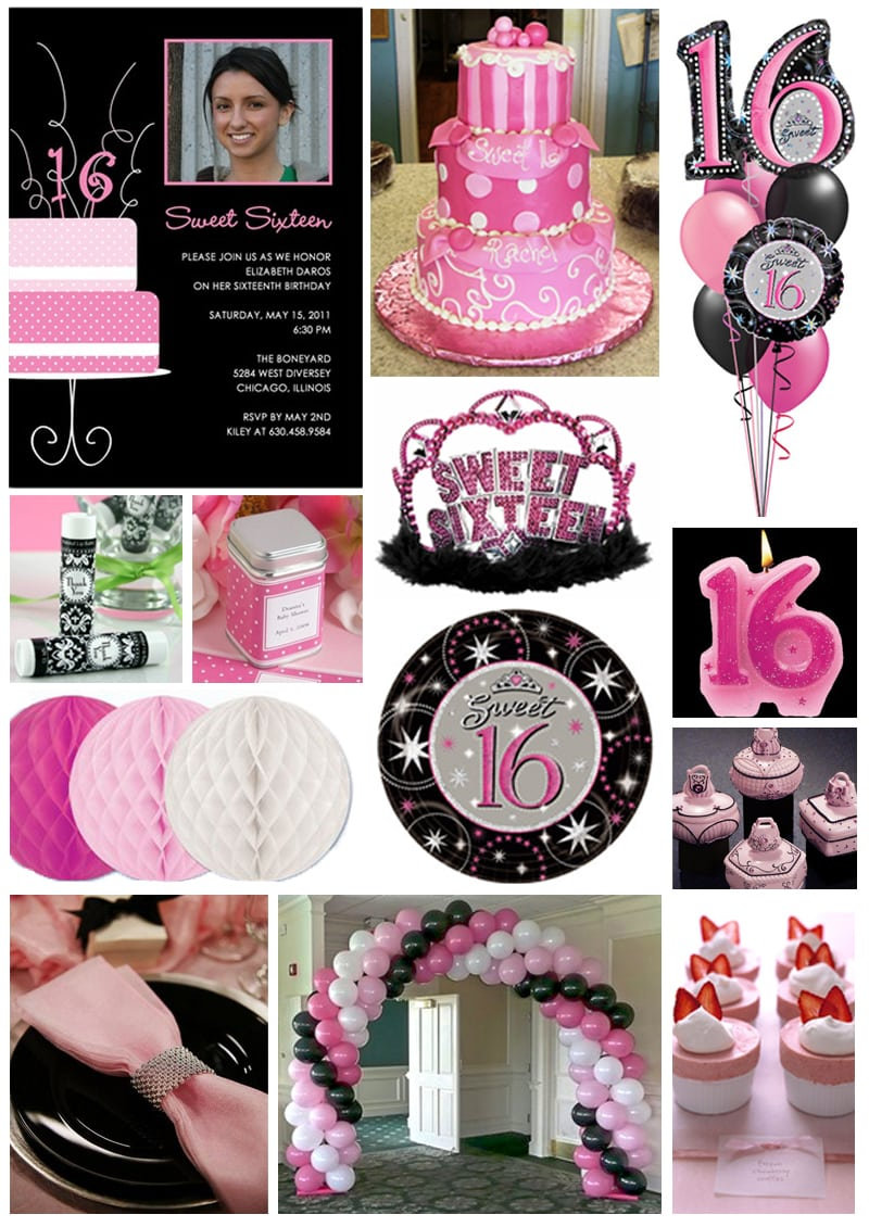 Inspiration Board  Pretty In Pink Sweet 16