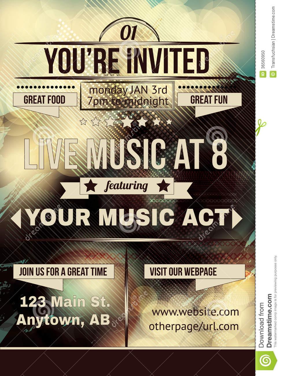 Invitation Flyer Design