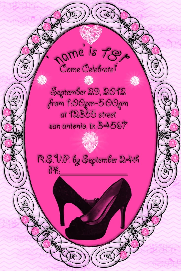 Invitation For 18th Birthday Party