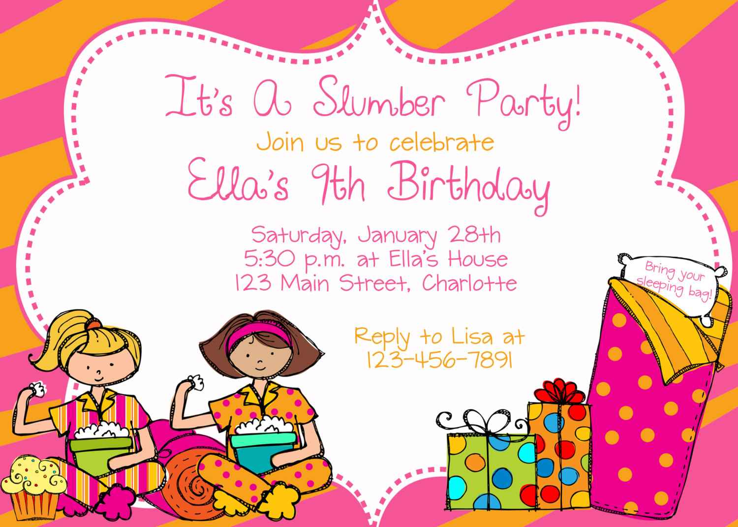 Invitation Letter For Birthday Party