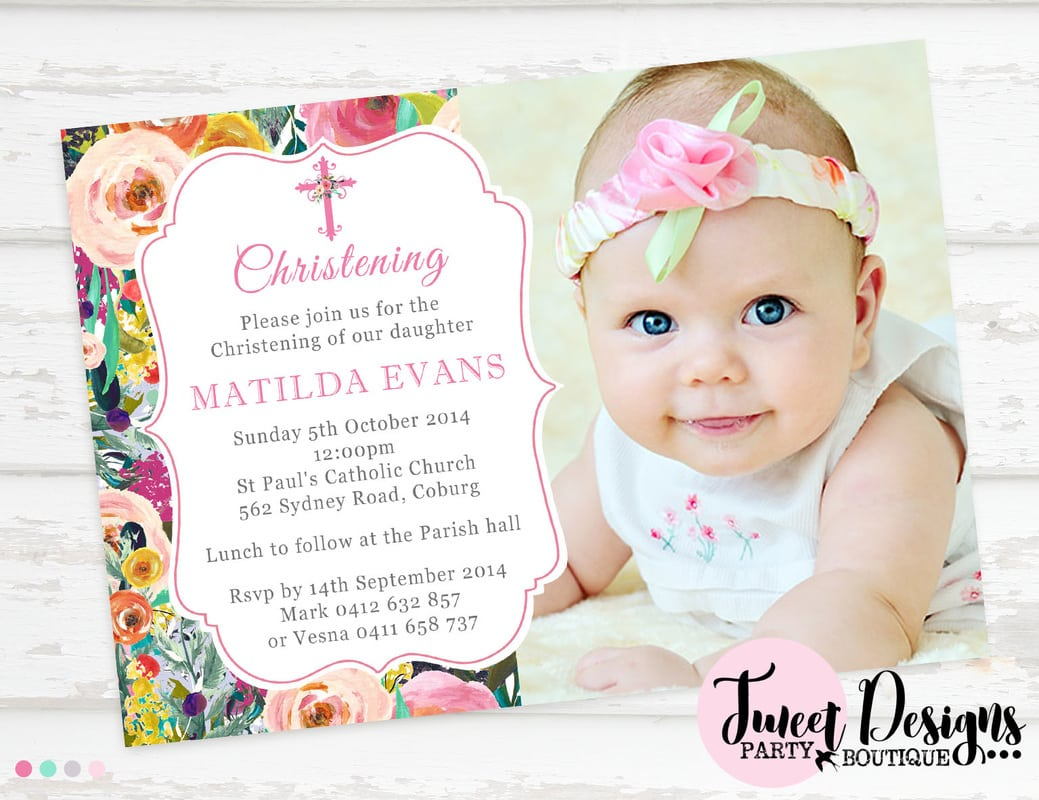 Invitations For Baptism Girl