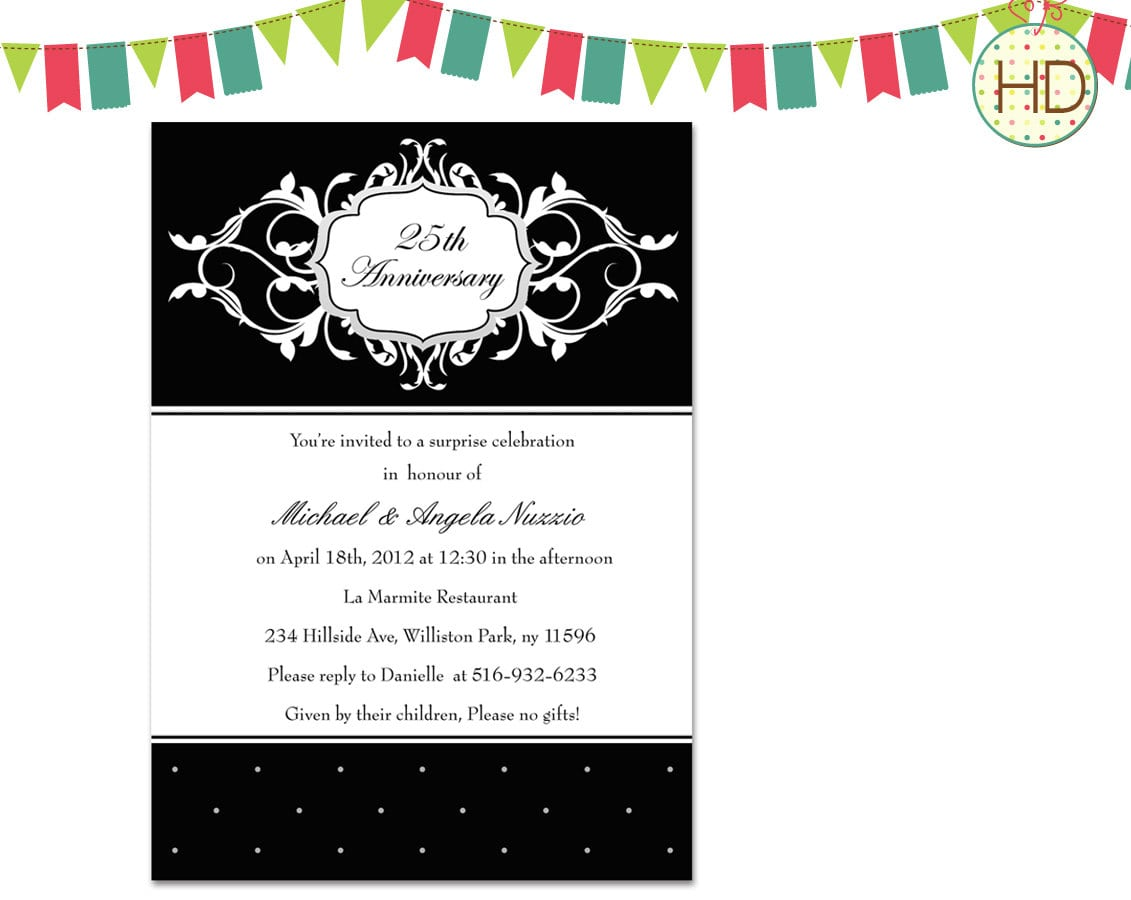 Invitations For Dinner Party