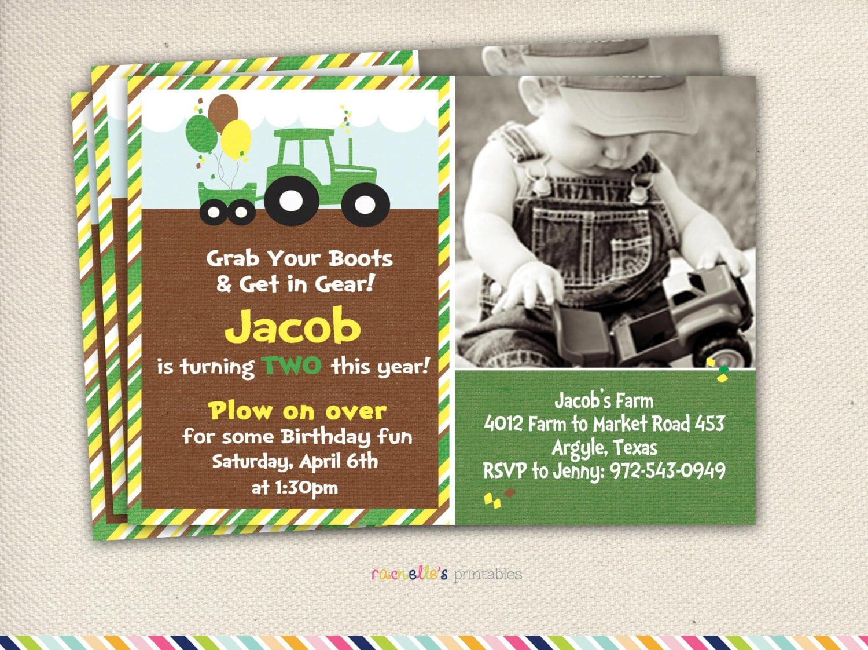 John Deere Party Green Tractor Birthday By Rachellesprintables