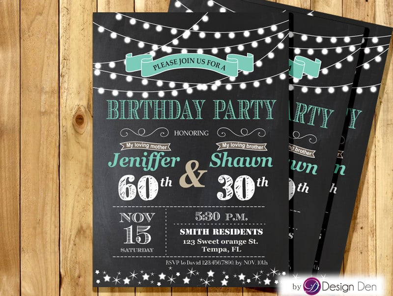 Joint Birthday Party Invitations Joint Birthday Party Invitations