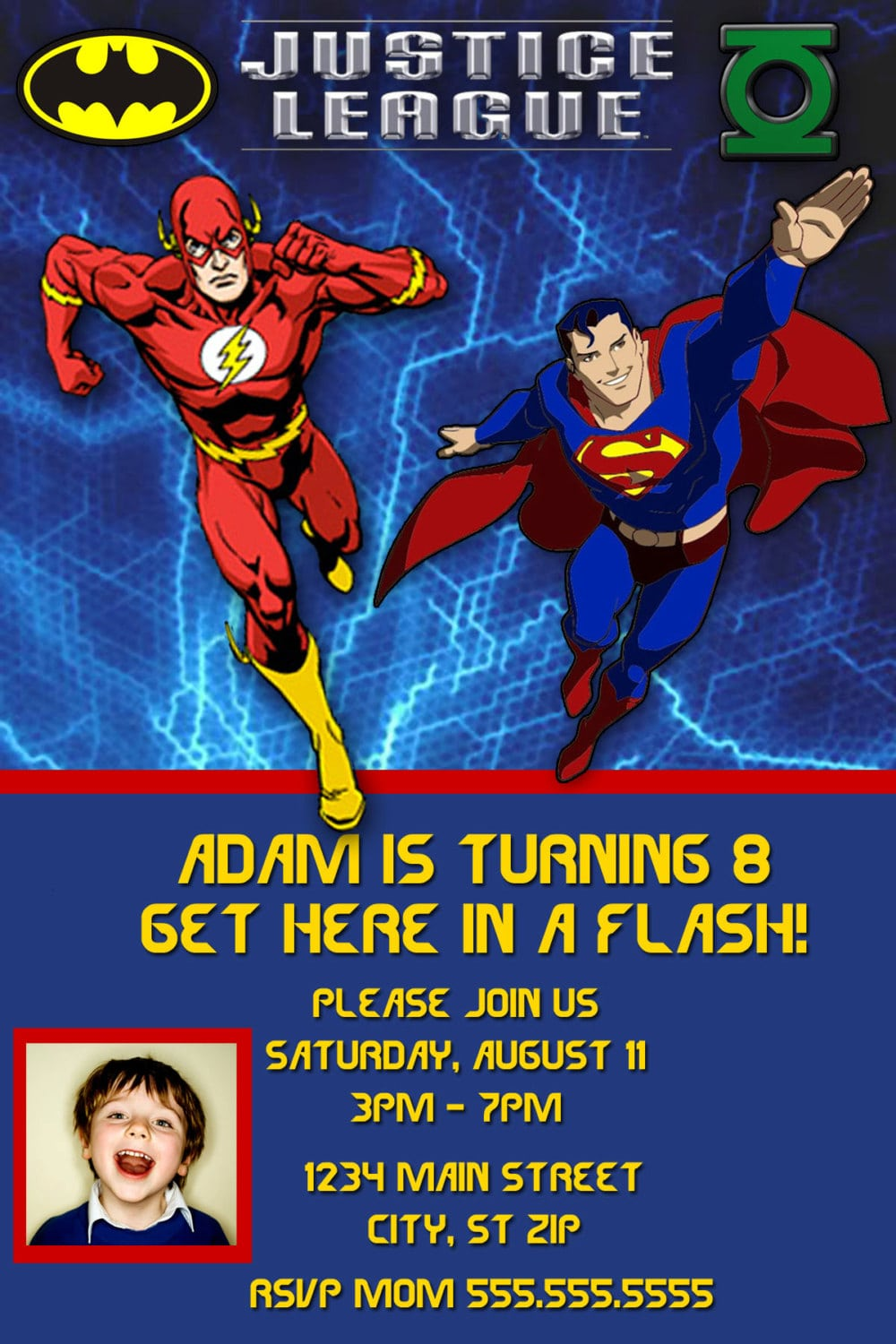 Justice League Birthday Invitation By Charmingangel On Etsy