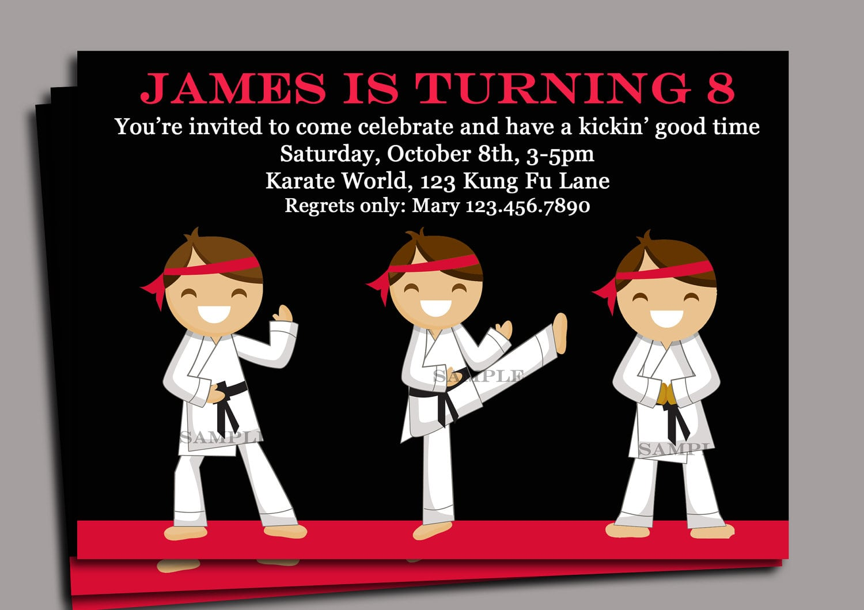 Karate Birthday Invitations For Kids – Bagvania Free Printable