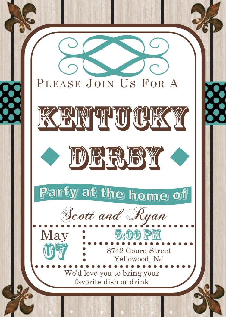 Kentucky Derby Party Invitations