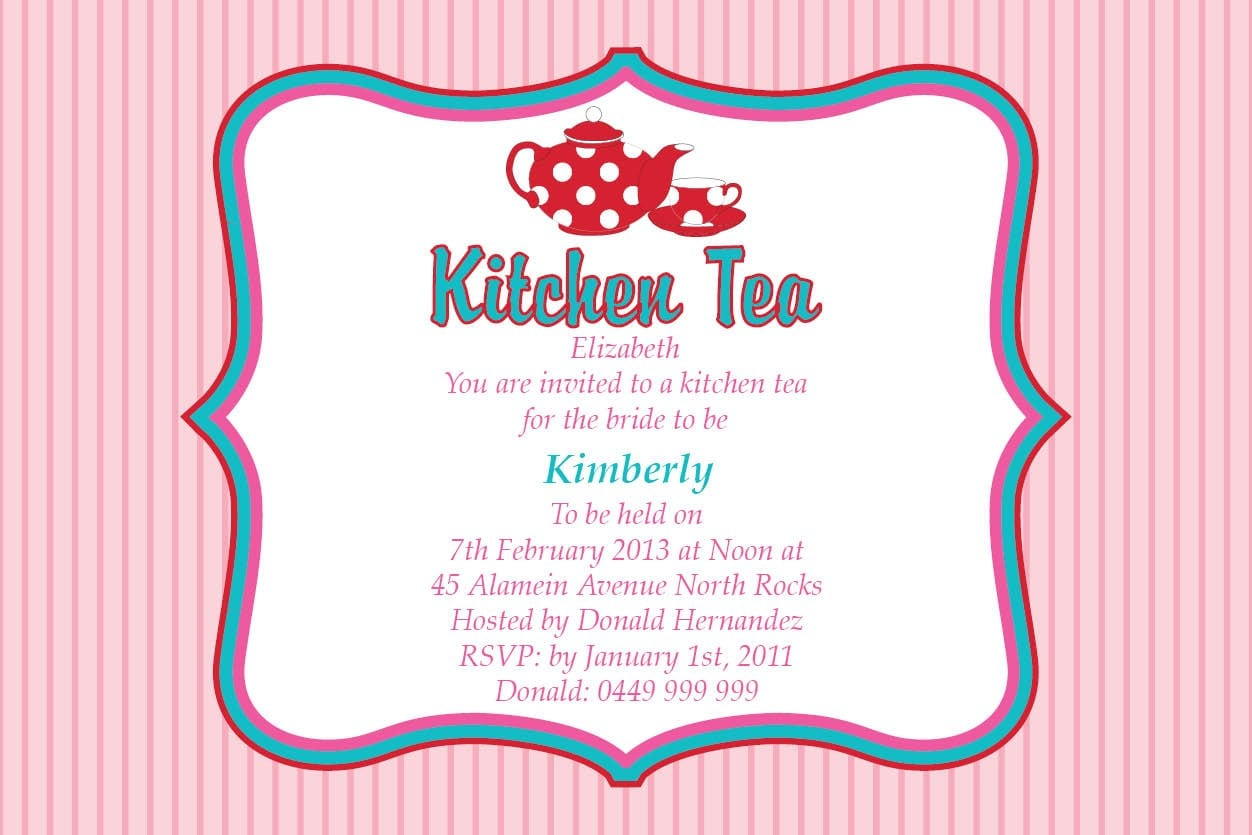 Kitchen Tea Invitation Templates Free