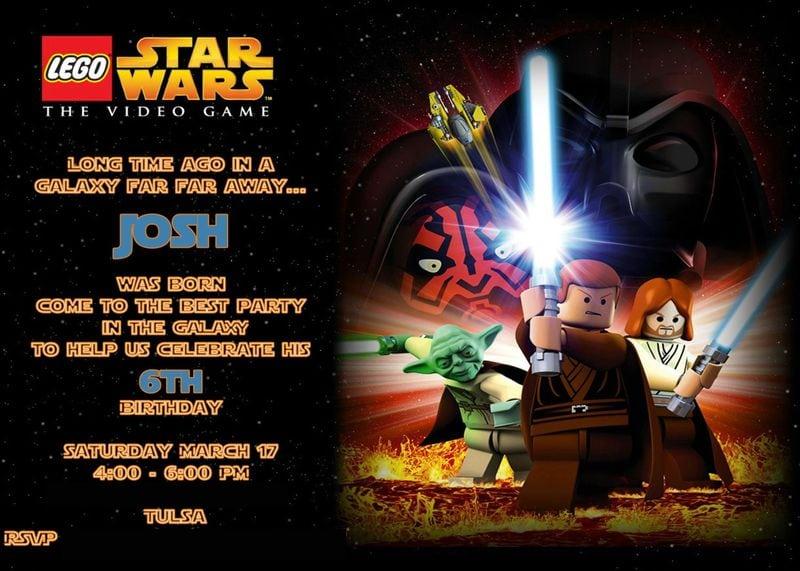 Lego Star Wars Birthday Invitation – Orderecigsjuice Info