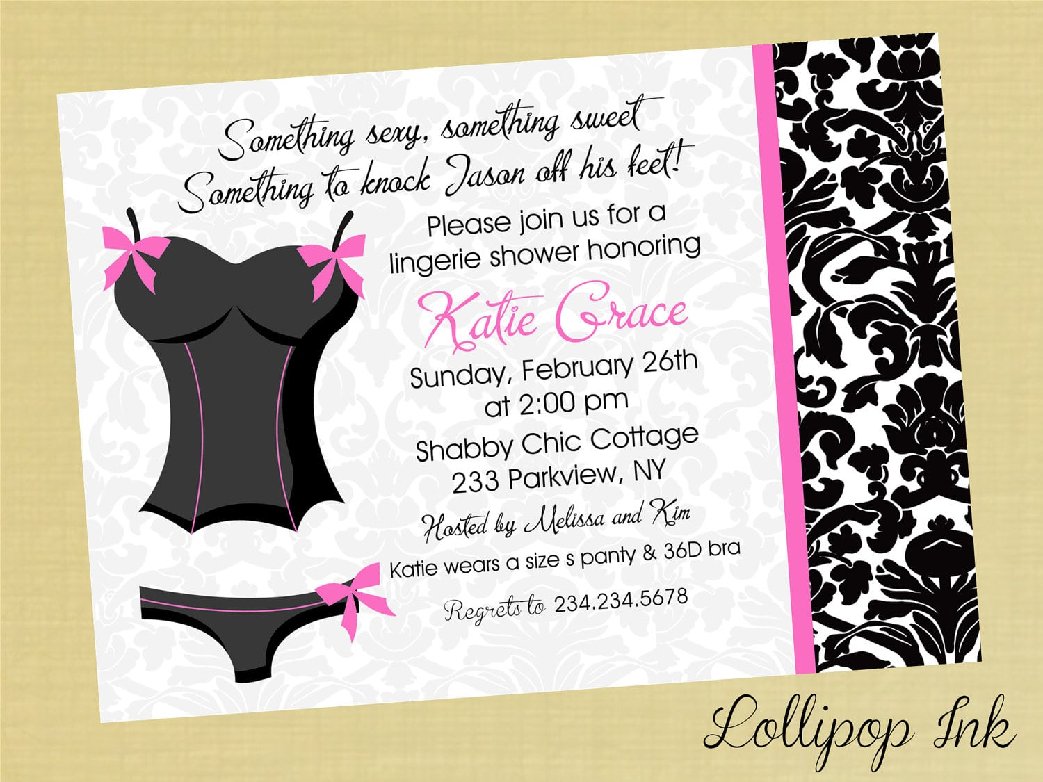 Lingerie Party Invitations Free Ideas