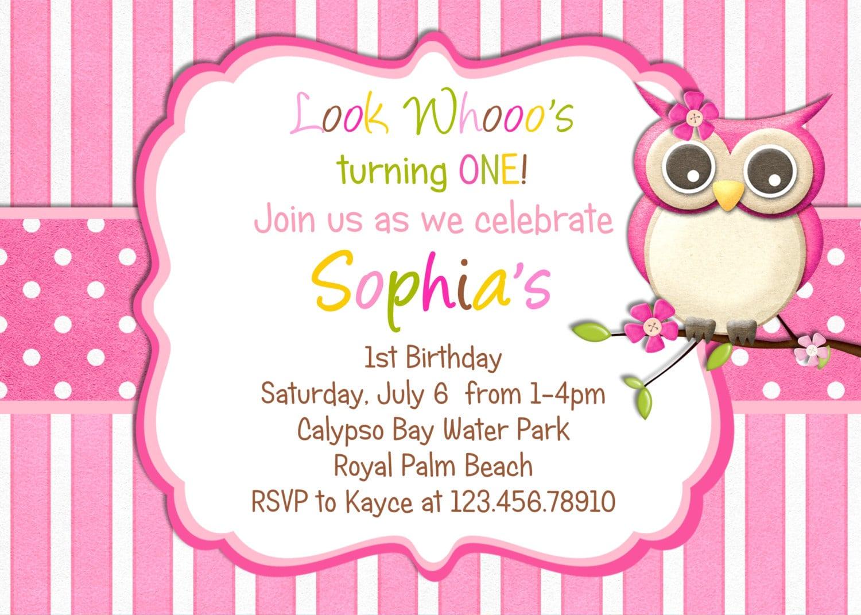 Little Owl Birthday Invitation
