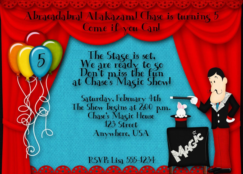 Magic+birthday+party+invitation+by+decidedlydigital+on+etsy,+$