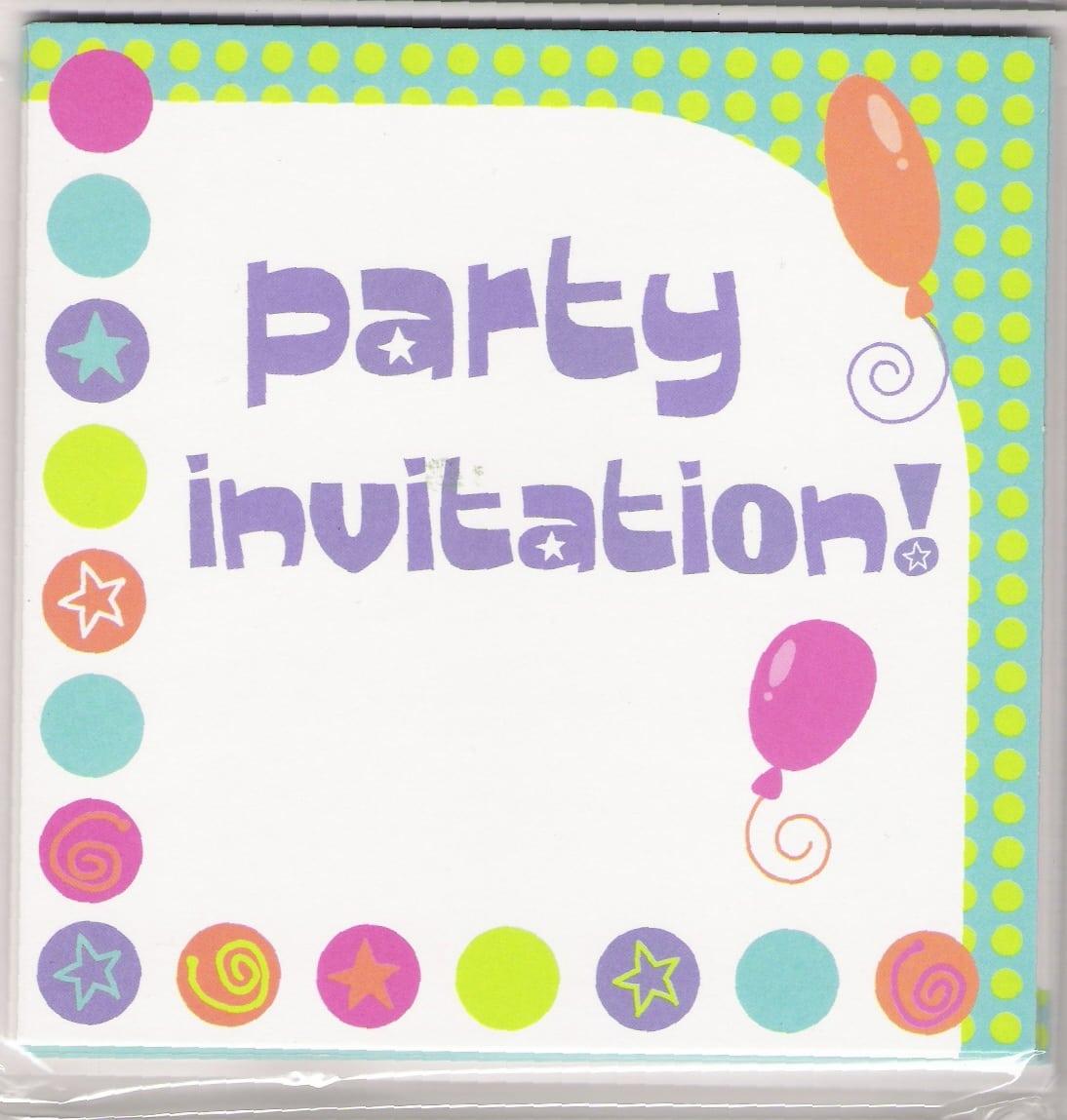 Make Own Card Party Invitations Inspired Ideas Ballon Motive Frame