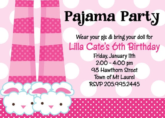 Marvelous Pajama Party Invitation Template As Efficient Article
