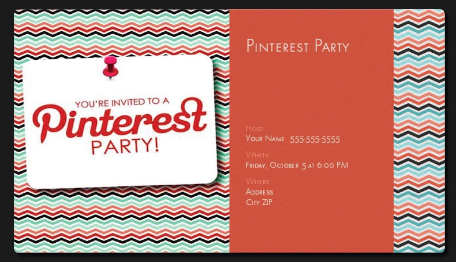 Party Invitations Pinterest