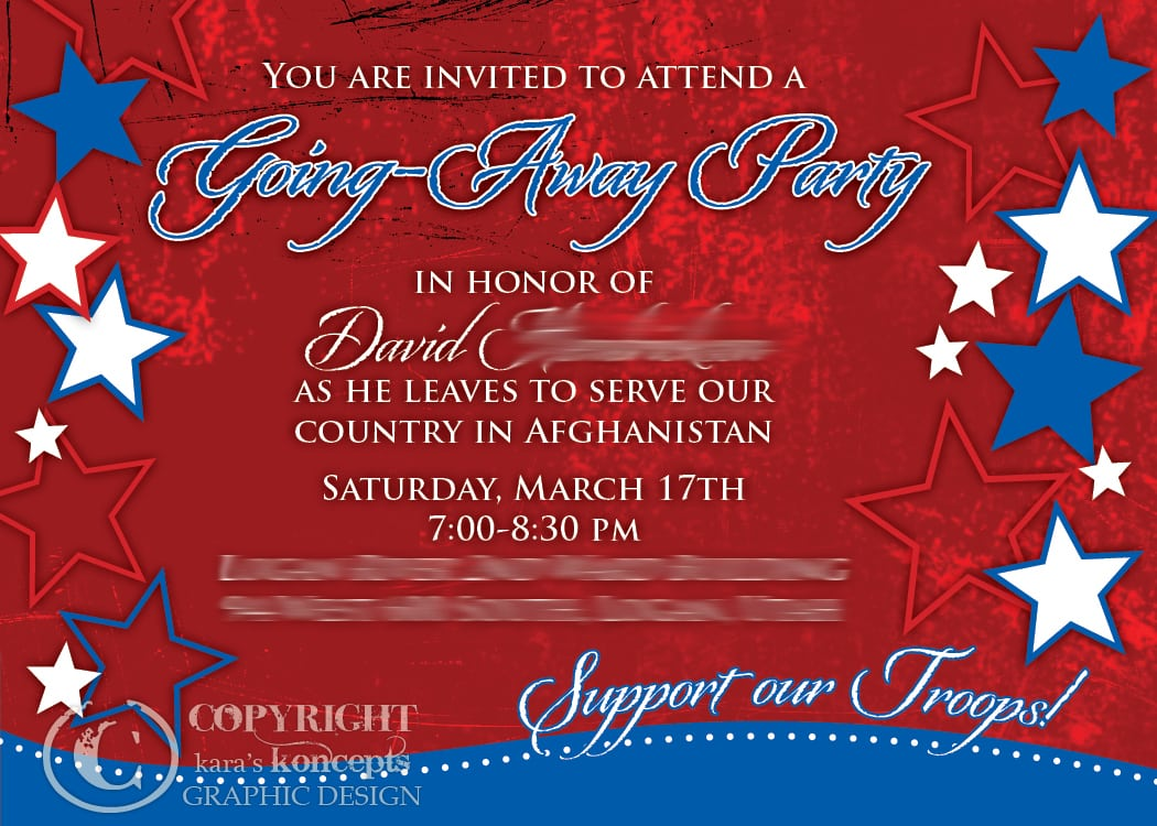 Military Going Away Party Ideas