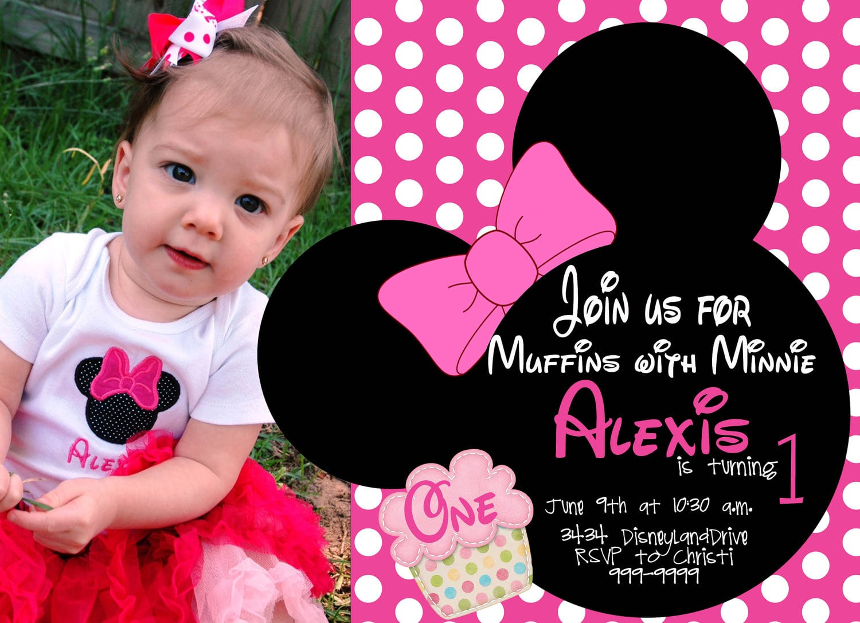 Minnie Mouse Birthday Invitations Templates