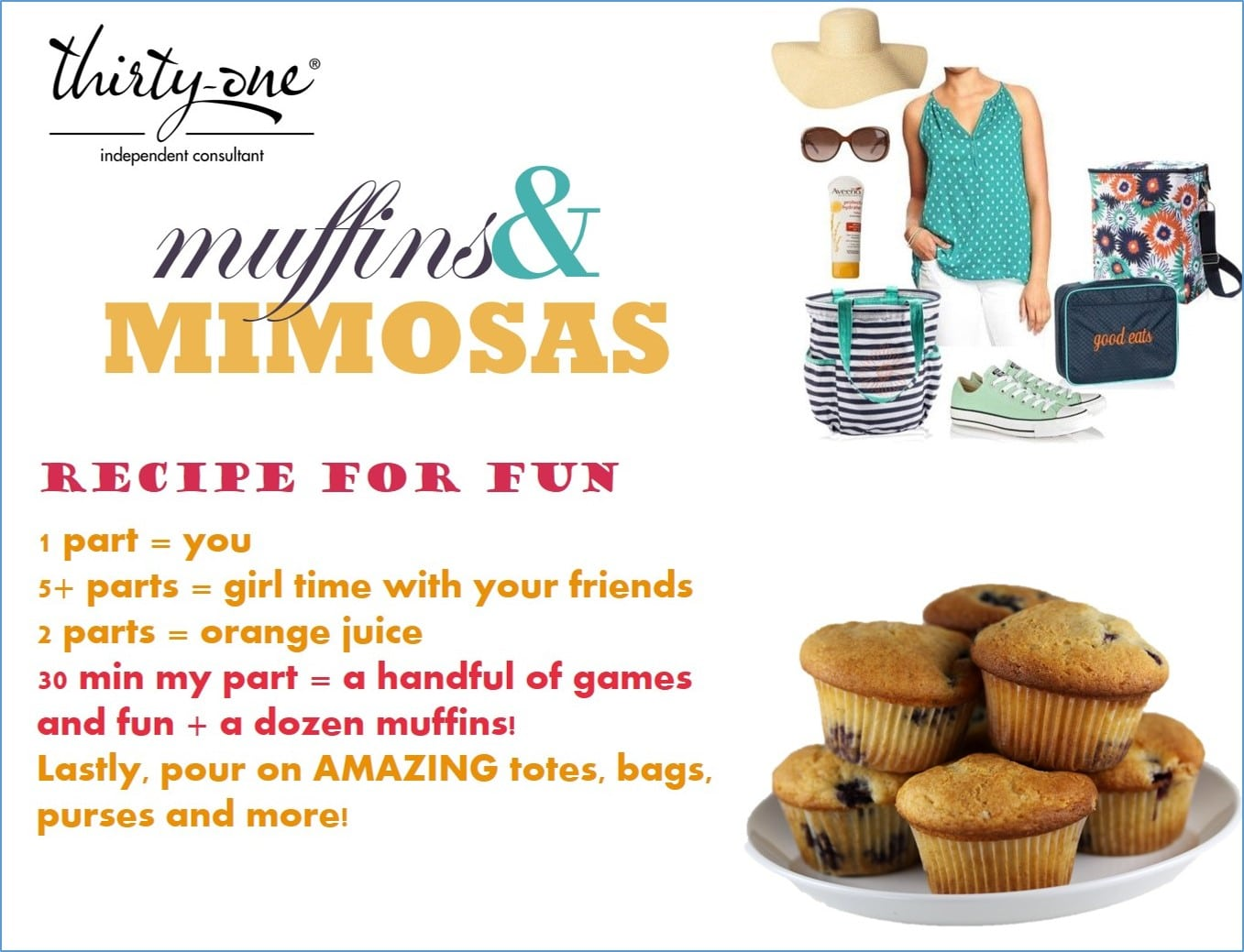 Muffins & Mimosa Party Invite