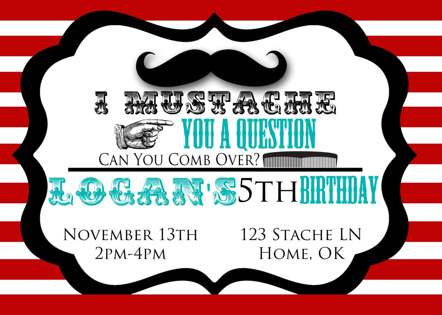 Mustache Party Invitations Mustache Party Invitations With Some