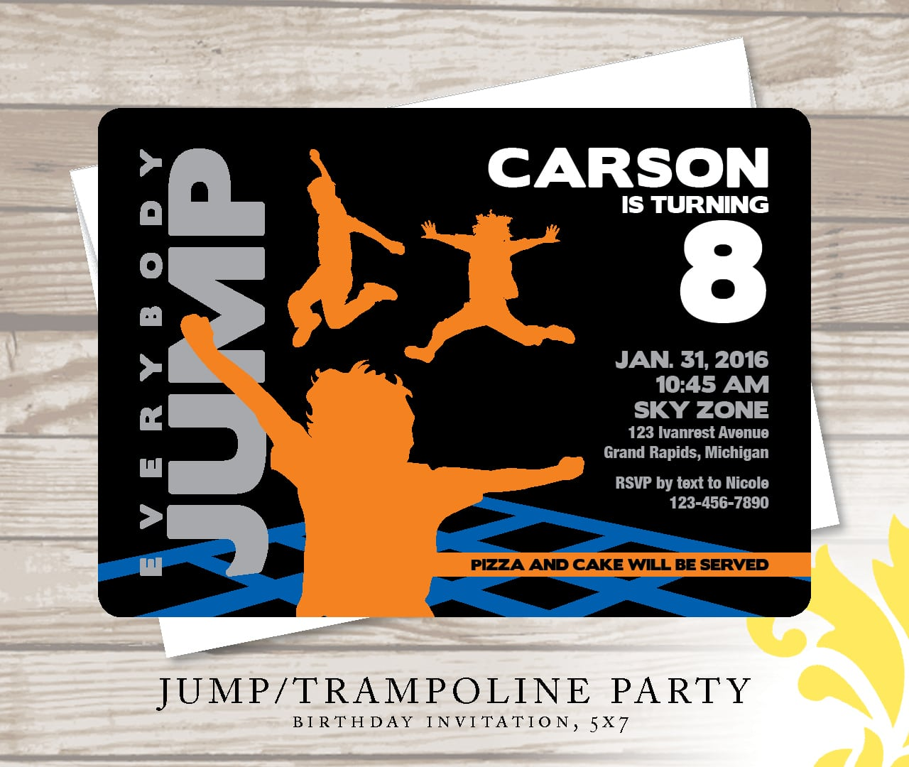 Nealon Design  Jump!   Birthday Invitation