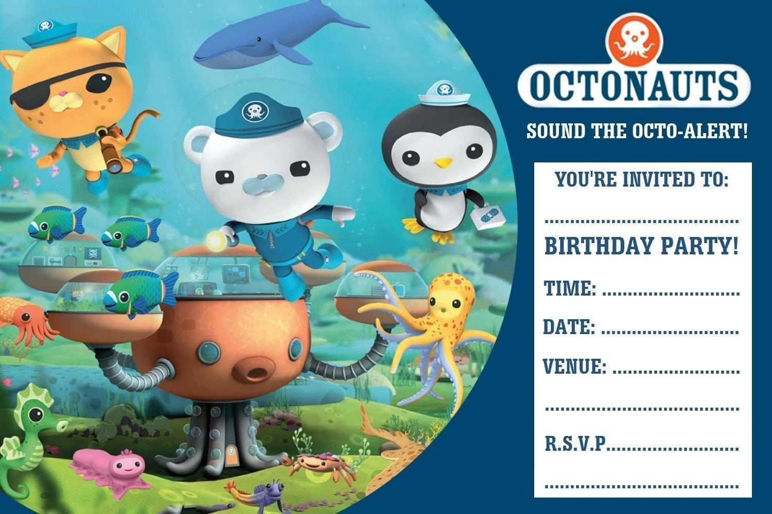 Nice Octonauts Birthday Party Invitations Ideas