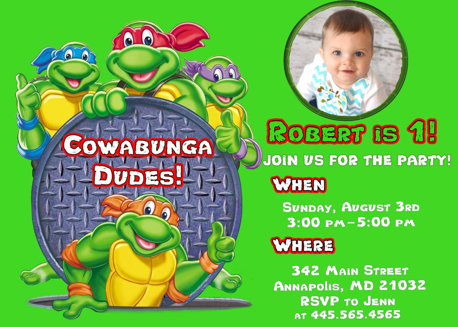 Ninja Turtles Birthday Invitations Ninja Turtles Birthday