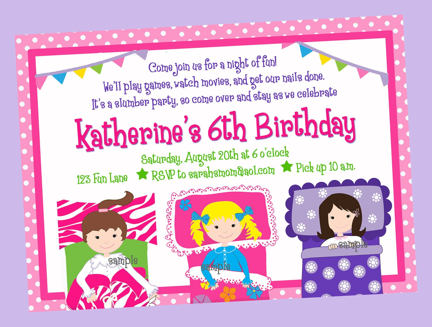 Pajama Party Invitation Pajama Party Invitation For Simple