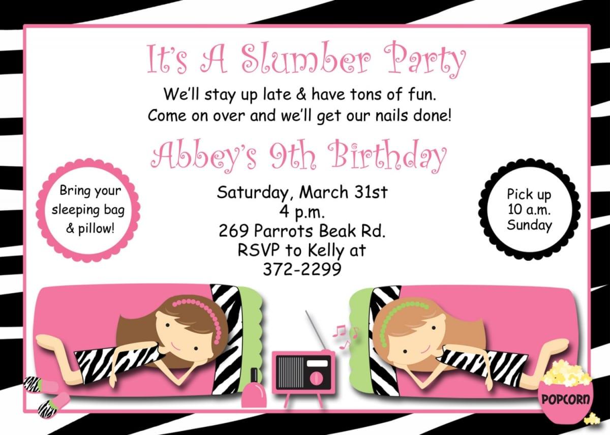 Pajama Party Invitation Templates