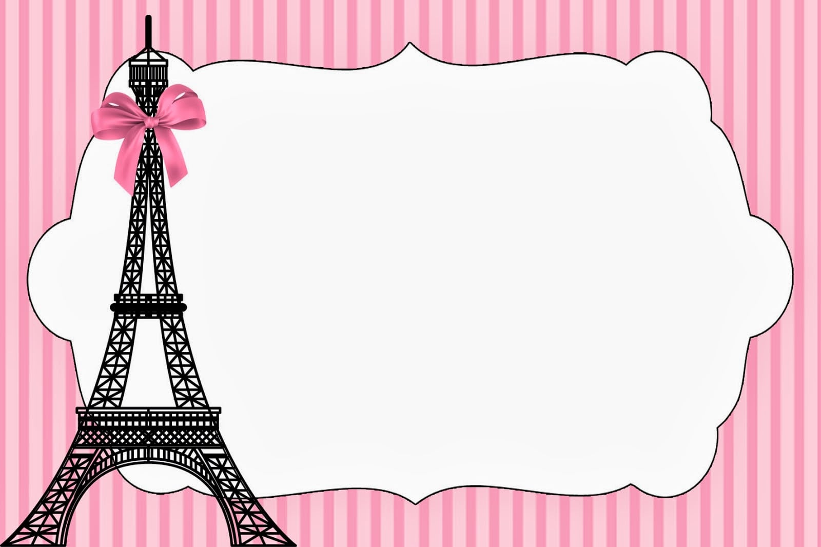 Paris  Invitations And Free Party Printables