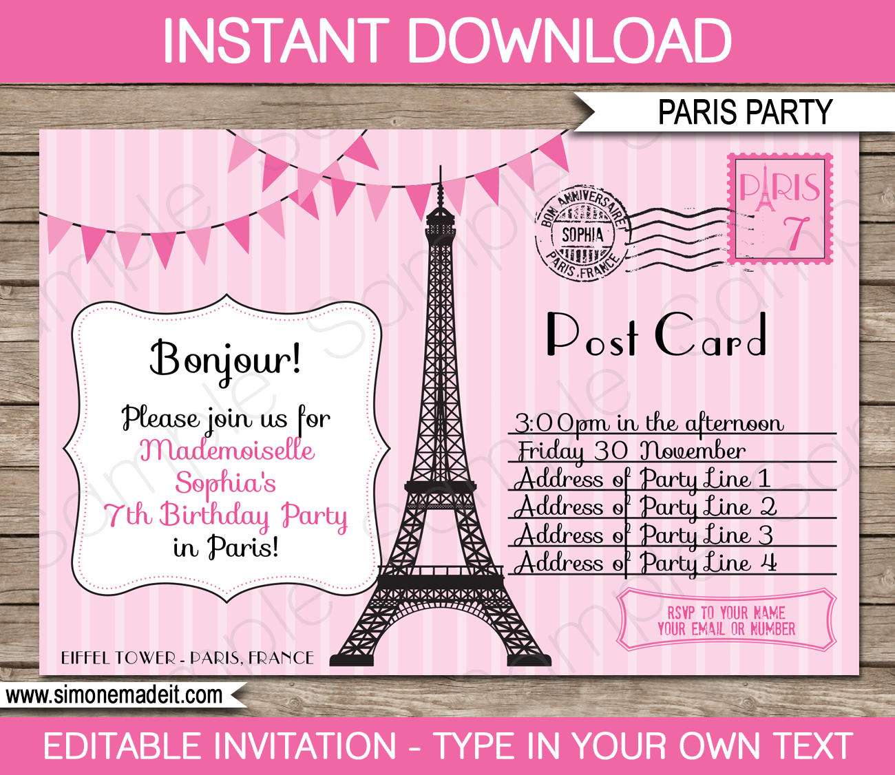 Paris Party Invitations Paris Party Invitations Using An Excellent