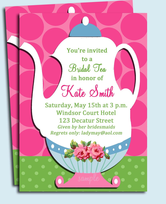 Party Invitation Tea Party Invitation Wording