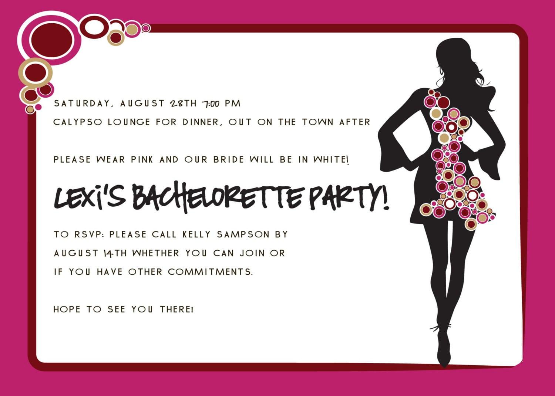 Party Invitations  Bachelorette Party Invitation Wording Funny