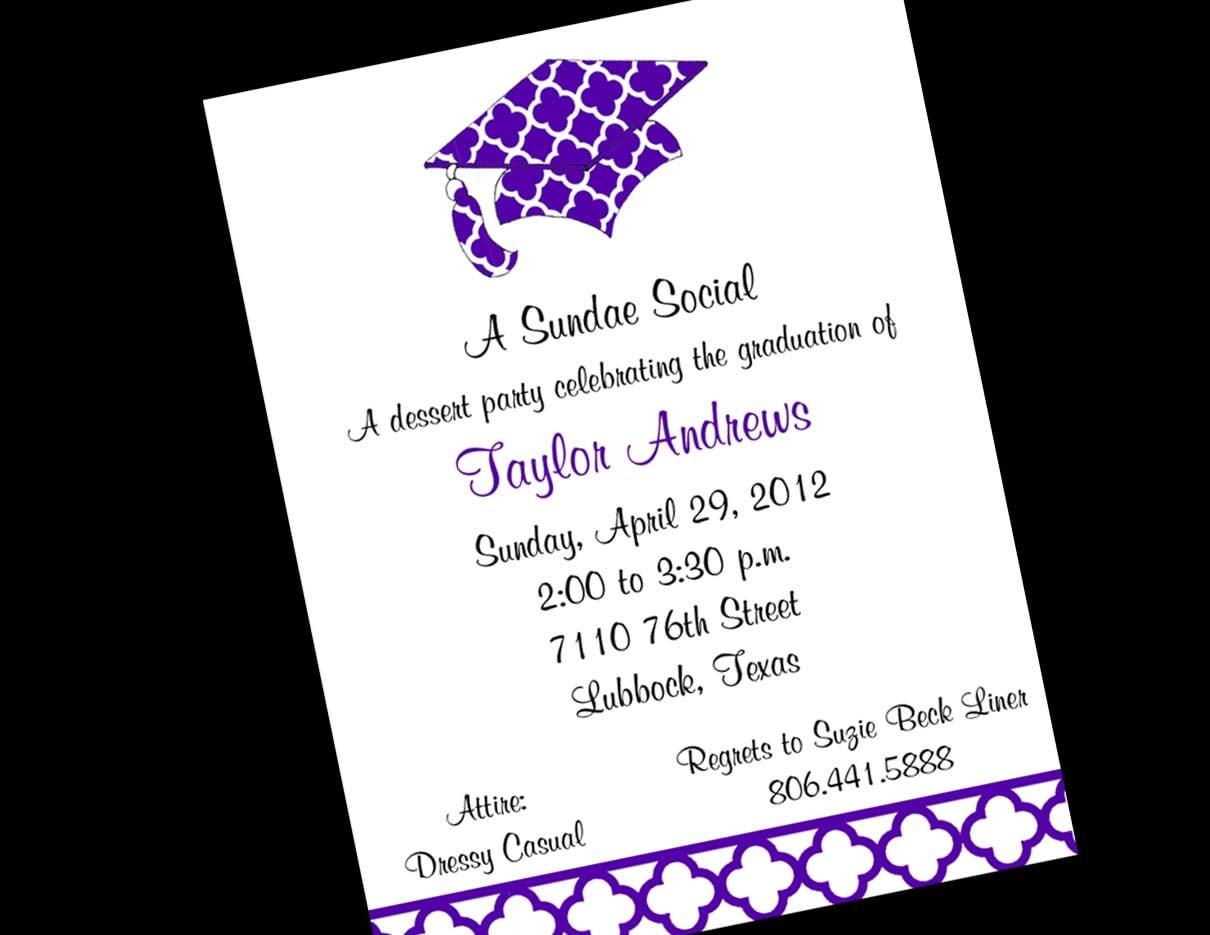 Party Invitations  Graduation Party Invitation Simple Design