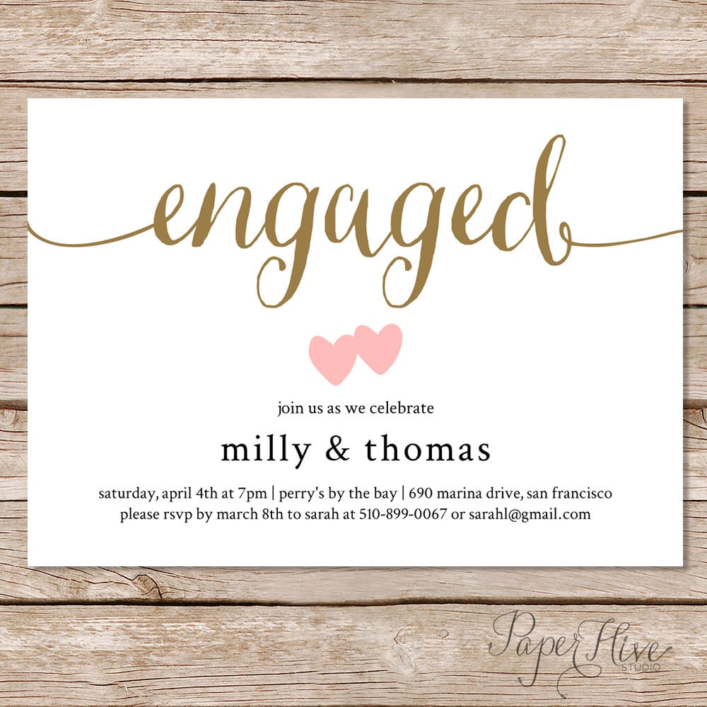 Party Invitations Mesmerizing Engagement Party Invitations Designs