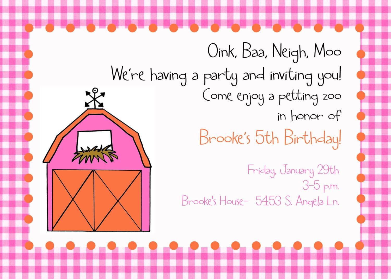 Pure romance party invitation wording mickey mouse invitations petting zoo birthday party invitations stopboris Choice Image