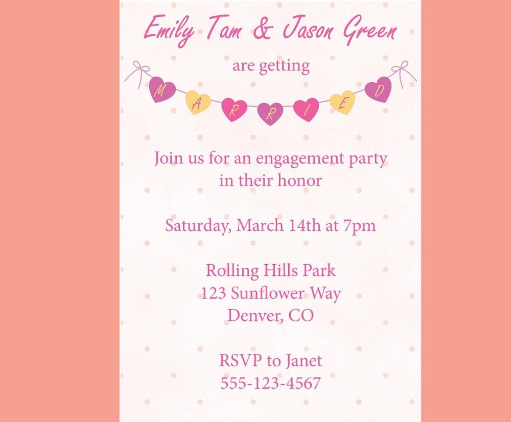 Pics For   Cute Engagement Invitation Wording   Emuroom