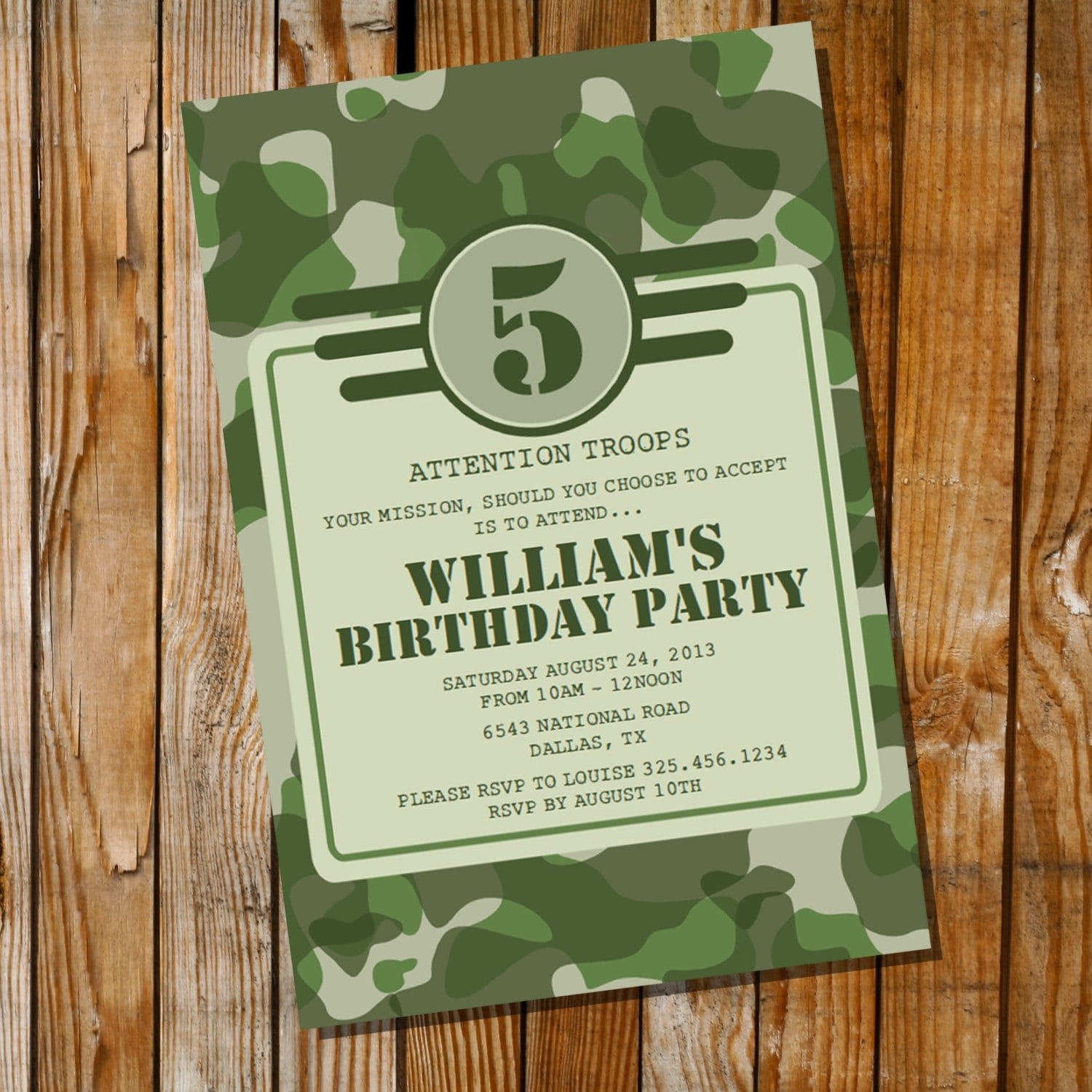Pink Camo Party Invitations Inspirational Army Party Invitation