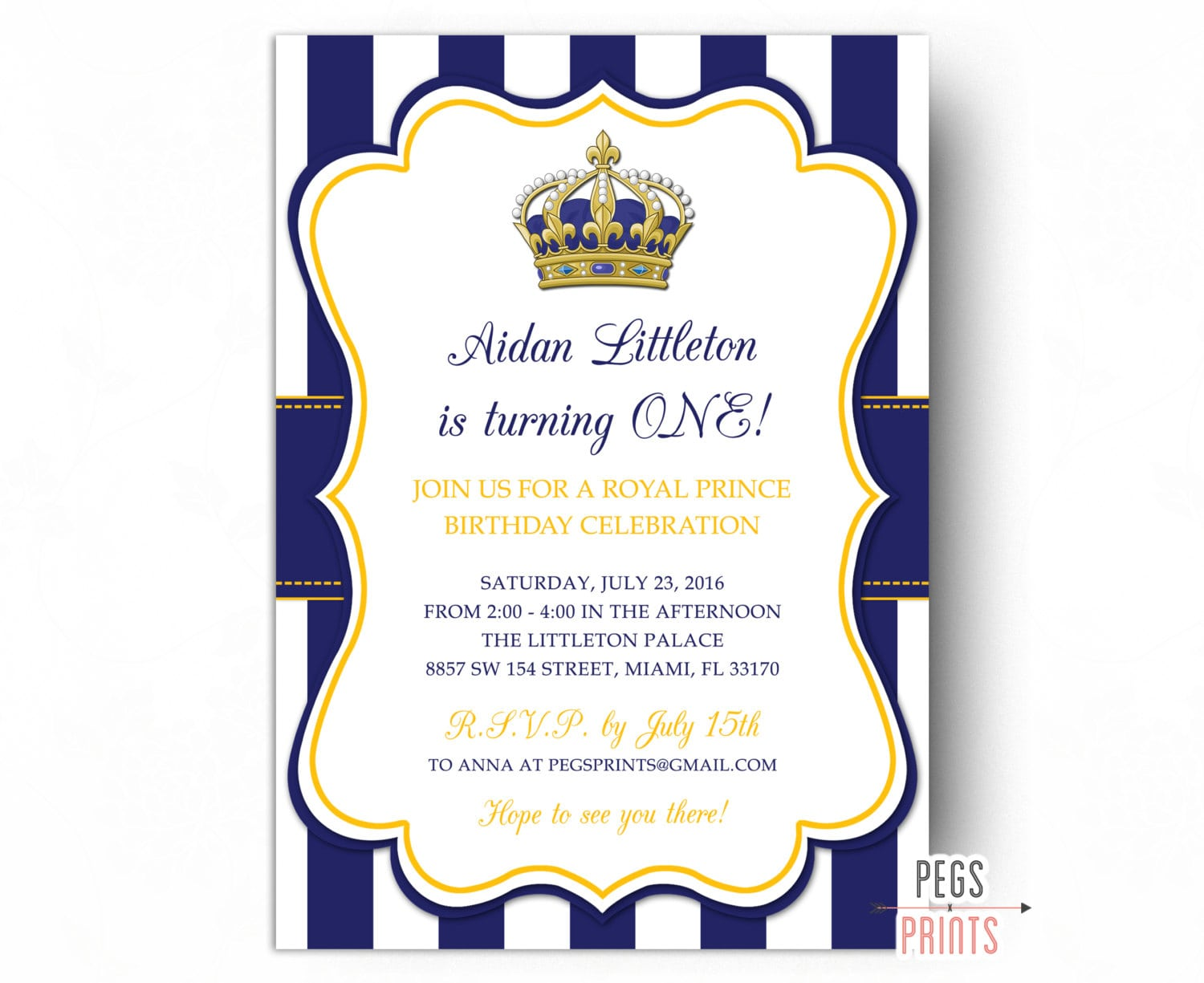 Prince Party Invitations