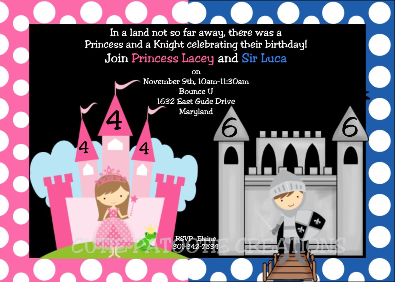 Princess Knight Birthday Invitation