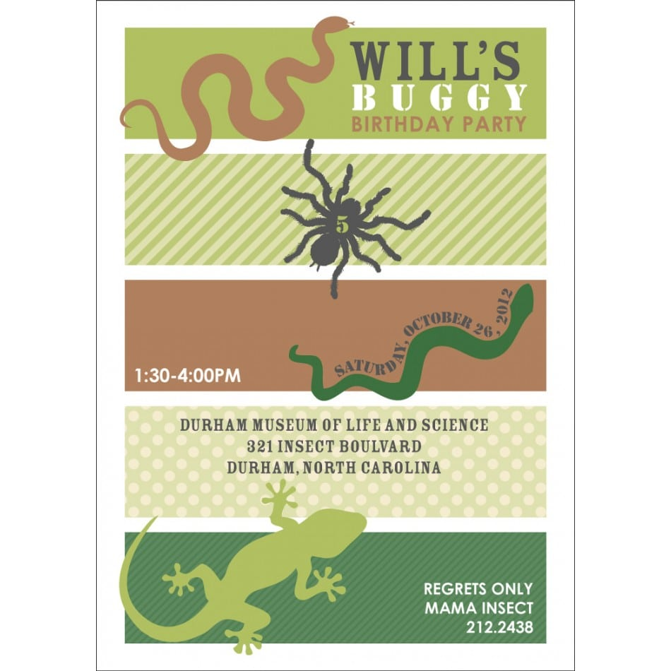 Printable Bug Invitations