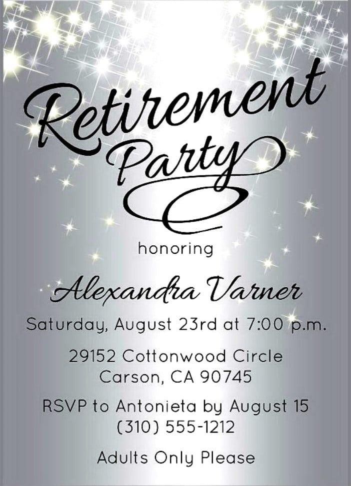 Printable Retirement Invitation