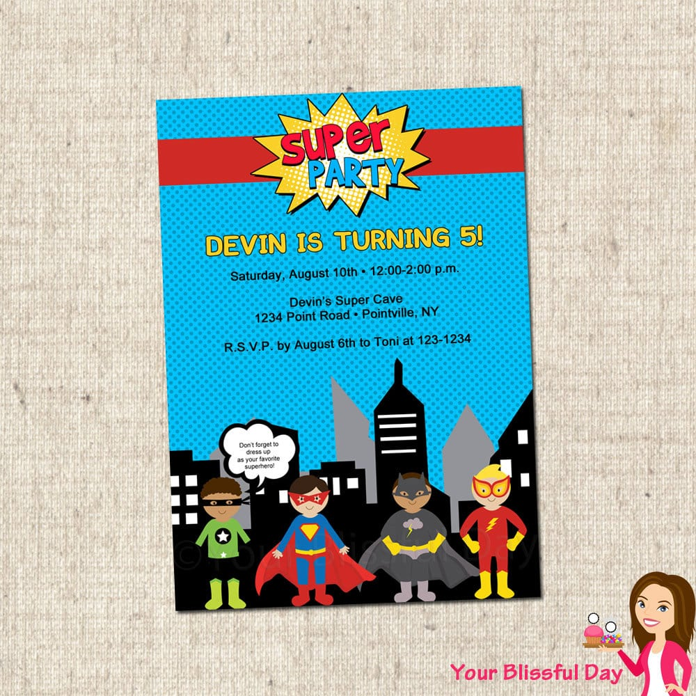 Printable+superhero+party+invitations+by+yourblissfulday+on+etsy