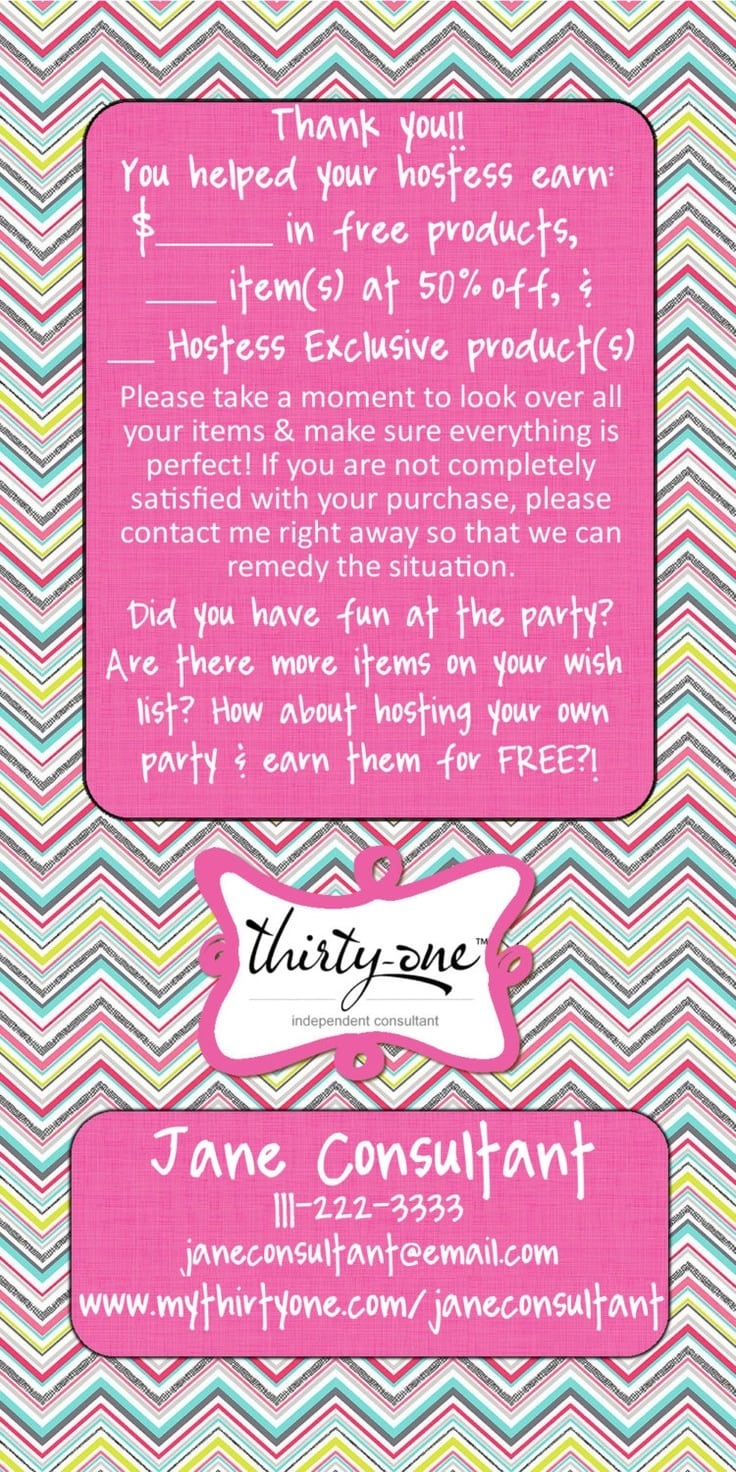 Thirty One Gifts Party Invitation Wording