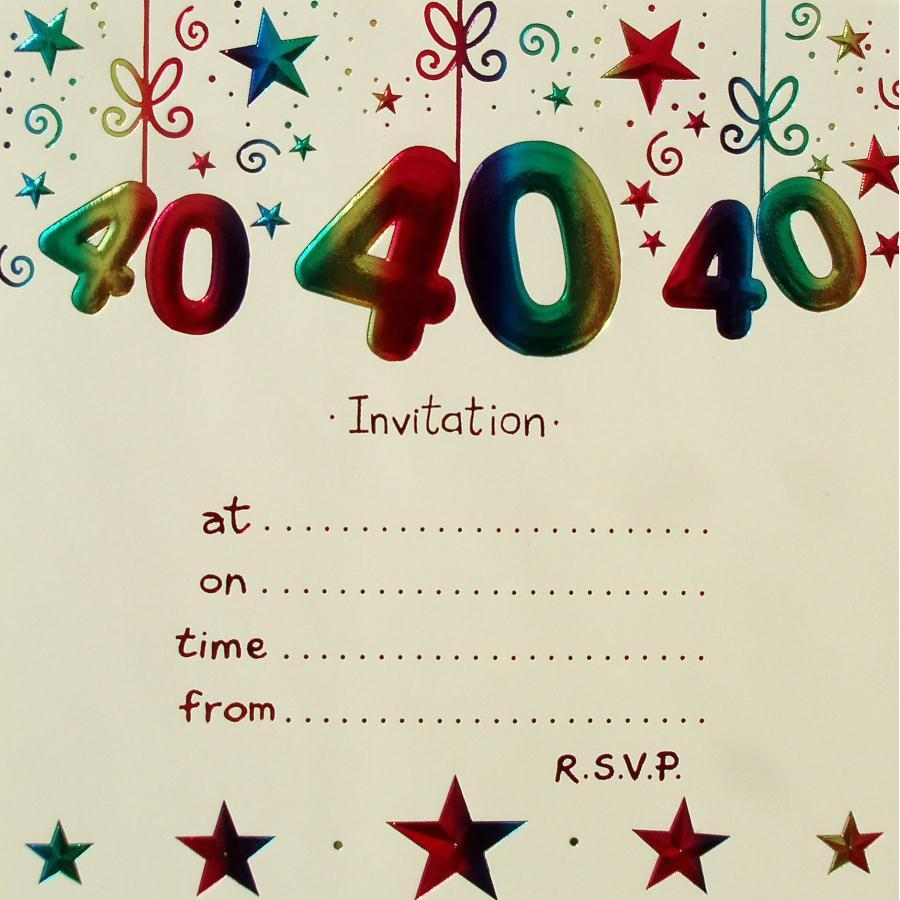 Remarkable 40th Birthday Party Invitations As Prepossessing Ideas